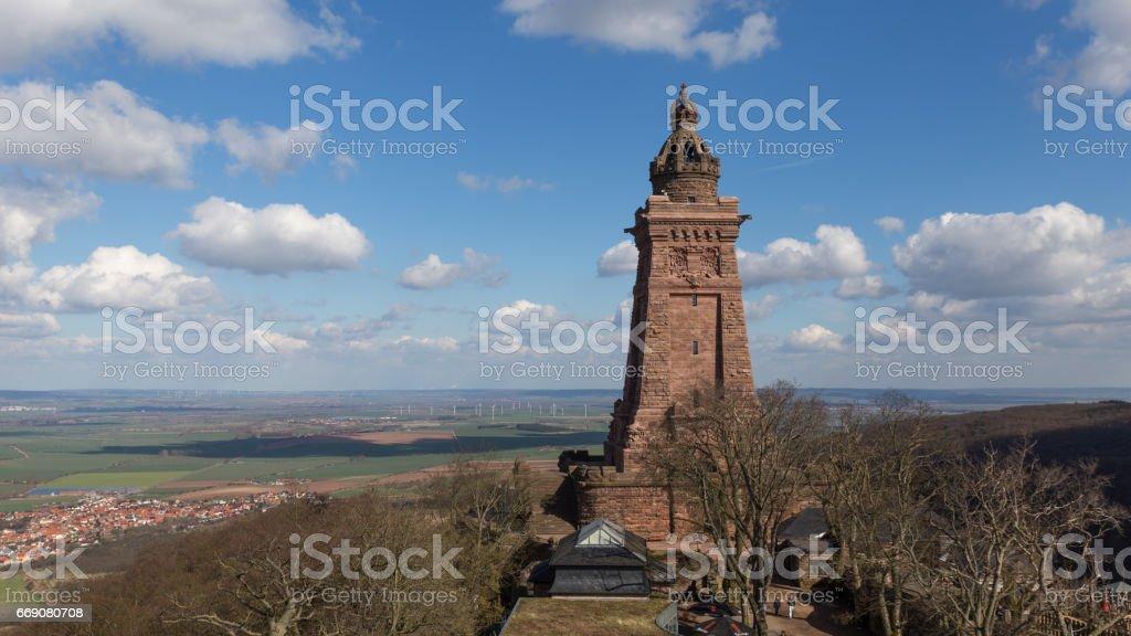 kyffhaeuser monument stock photo