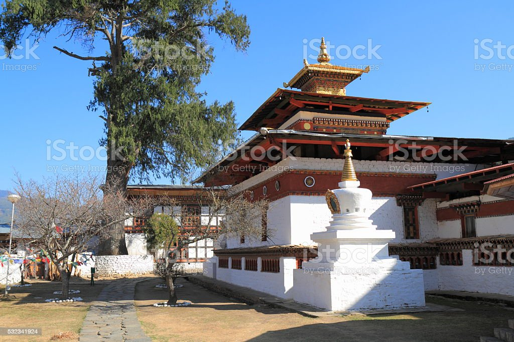 Kyichu Lhakhang, Bhutan stock photo