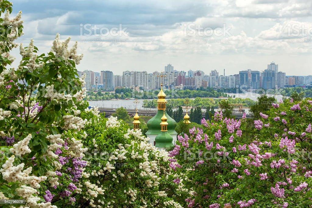 Kyiv cityscape stock photo