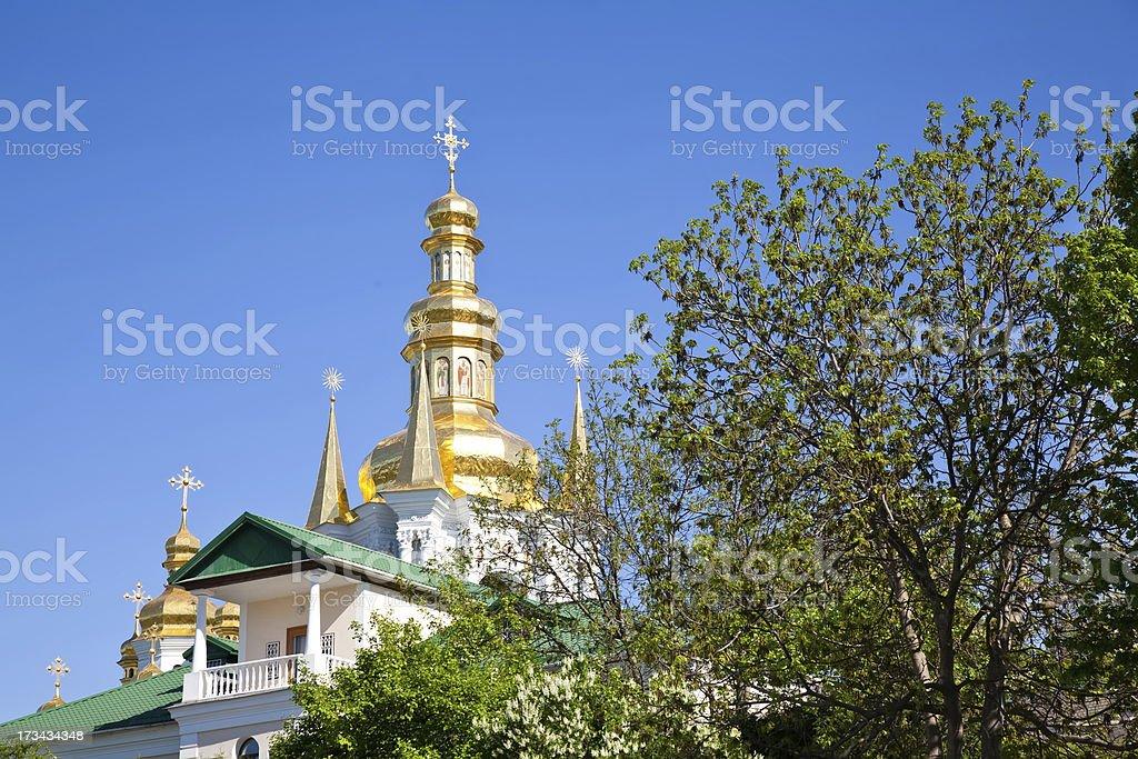 Kyiv Pechersk Lavra golden dome royalty-free stock photo