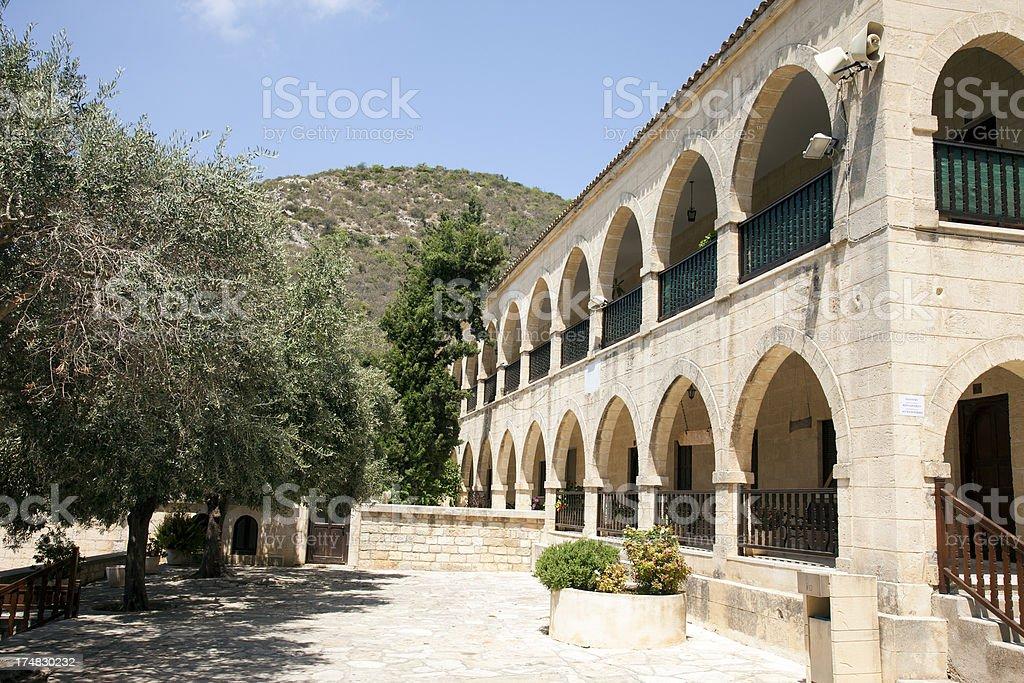 Kykkos monastery in Cyprus. stock photo