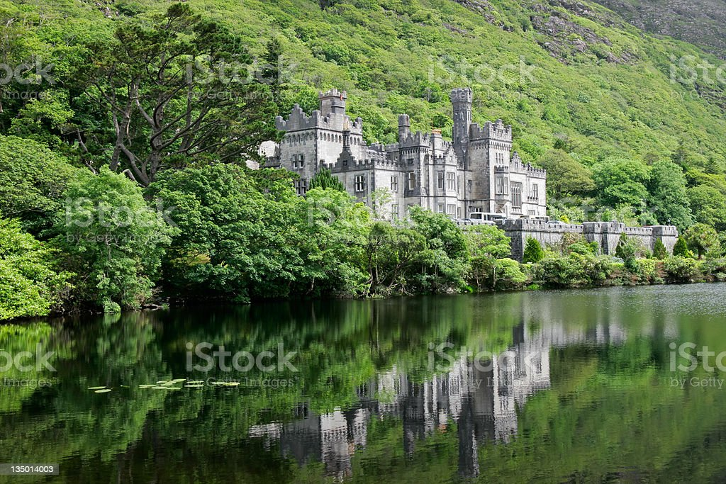 Kylemore Abbey Castle royalty-free stock photo