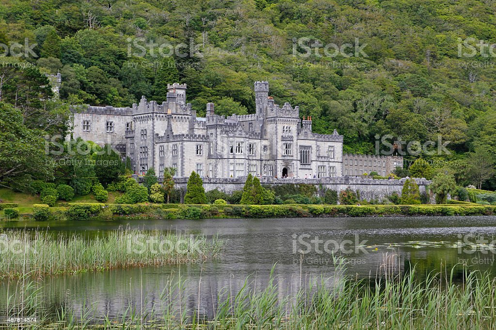 Kylemore abbey in Connemara, Ireland stock photo