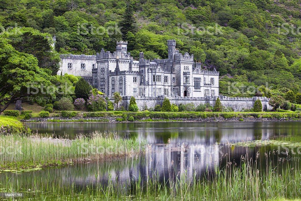 Kylemore Abbey, Ireland stock photo