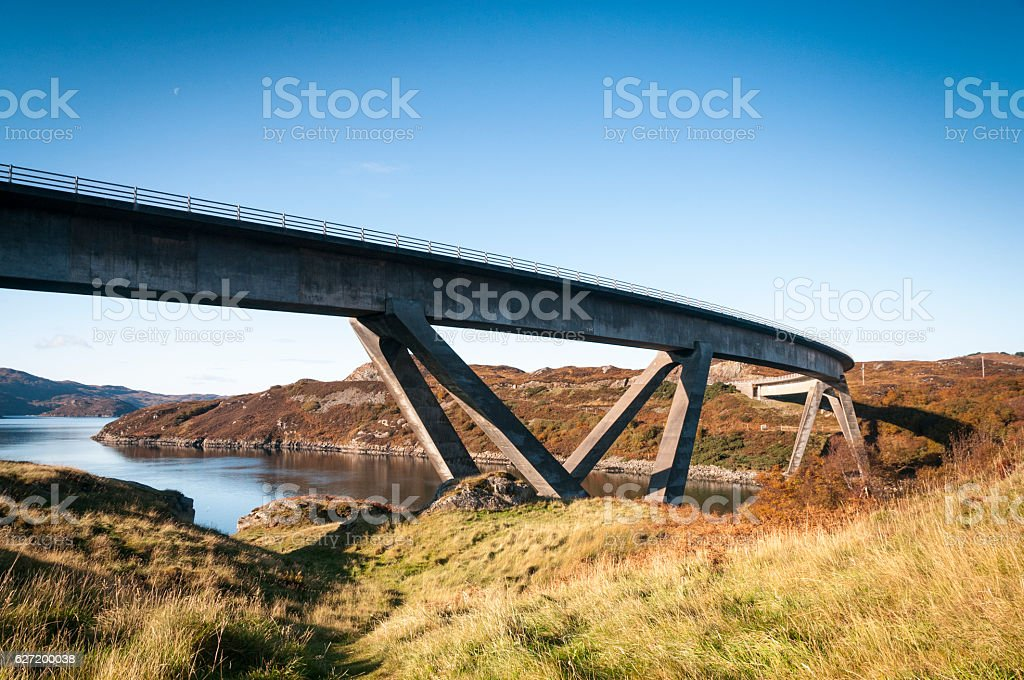 Kylesku Bridge stock photo