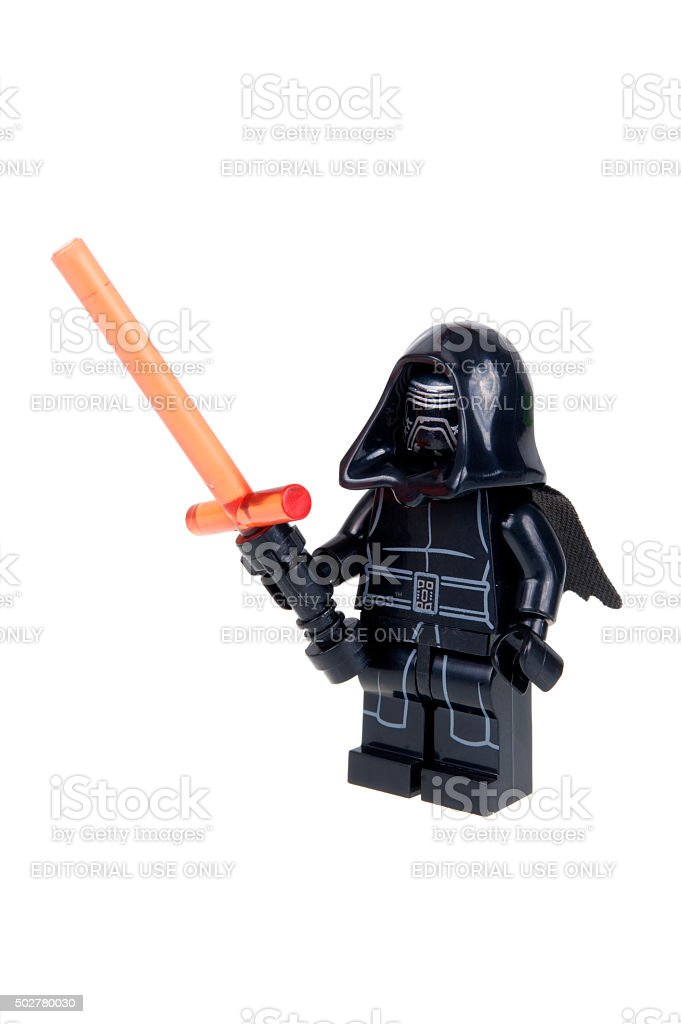 Kylo Ren Force Awakens Lego Minifigure stock photo