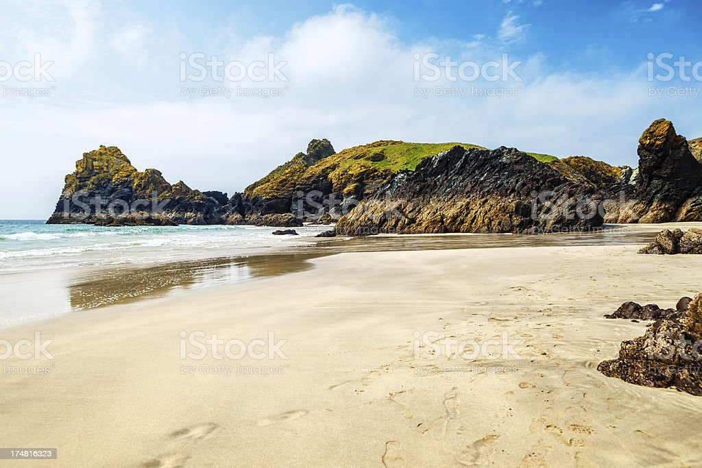 Kynance Cove beach, SW Cornwall stock photo