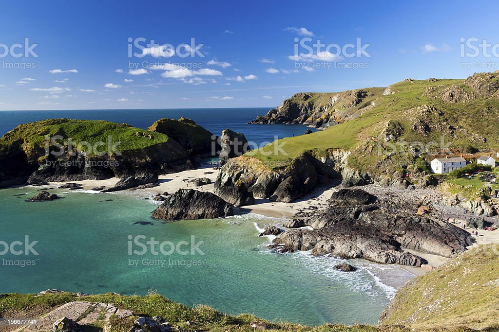 Kynance Cove Cornwall stock photo