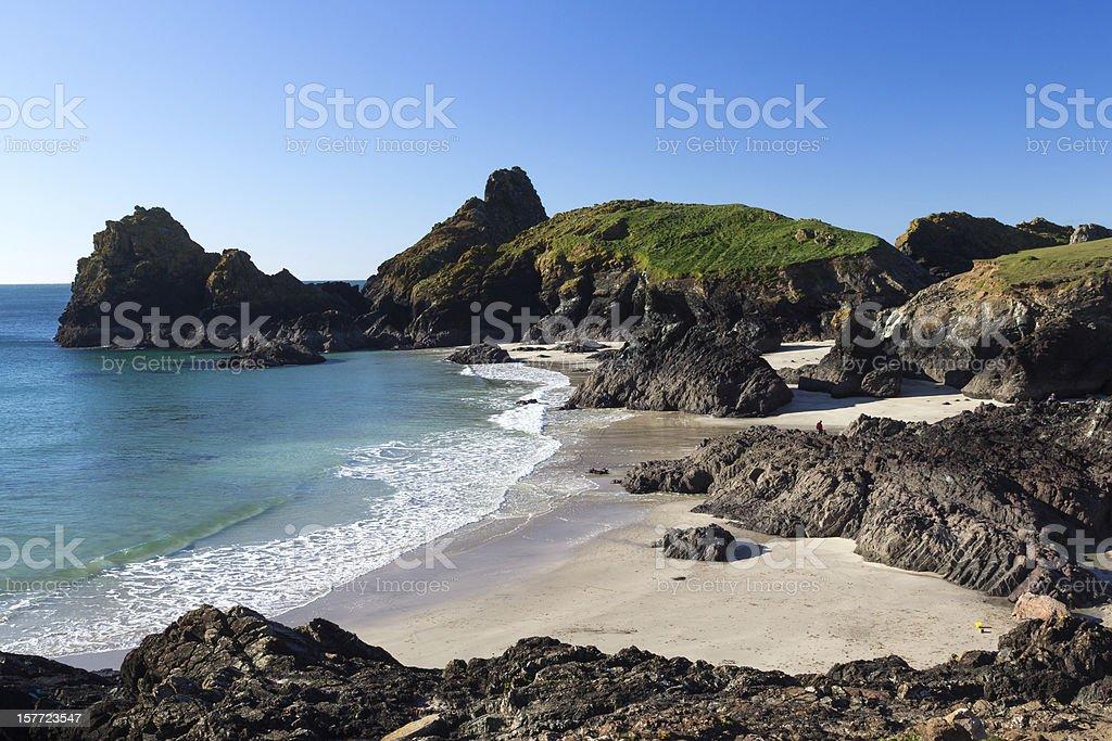 Anse de Kynance Cornwall photo libre de droits