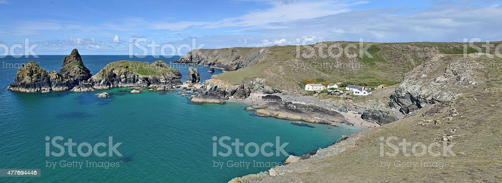 Kynance Cove (Lizard Peninsula) Cornwall stock photo