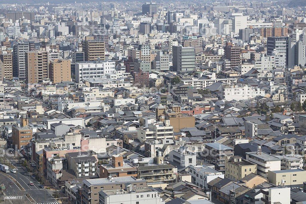 Kyoto Cityscape in Japan stock photo