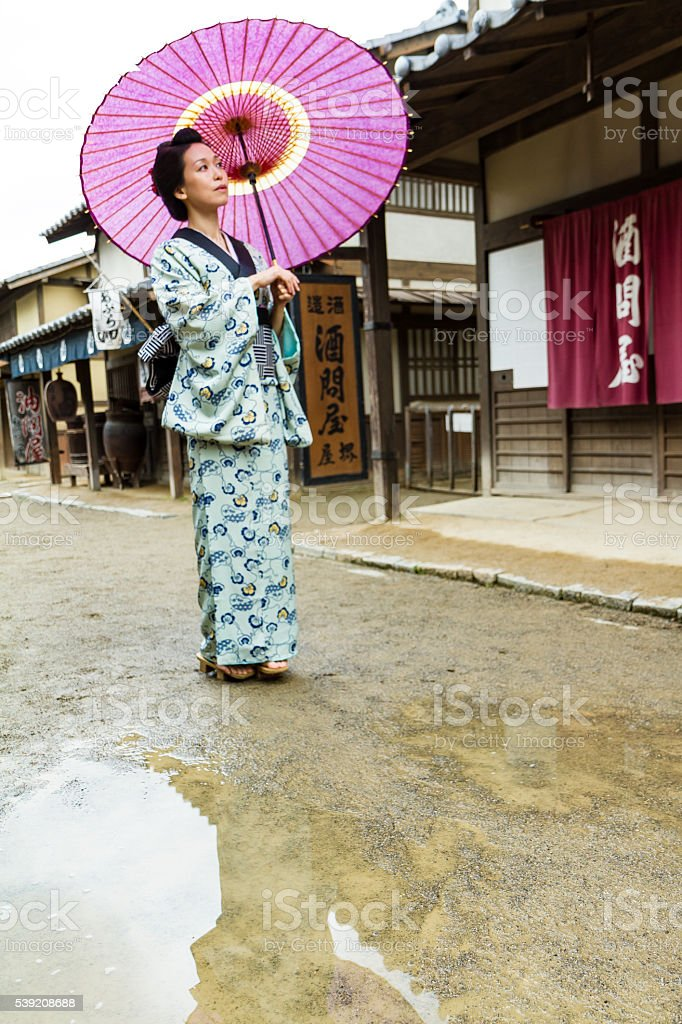 Kyoto Edo Okami-san stock photo