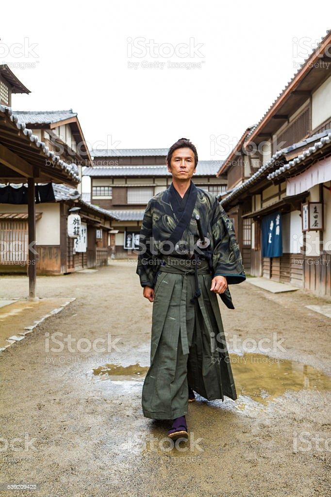 Kyoto Edo Samurai stock photo