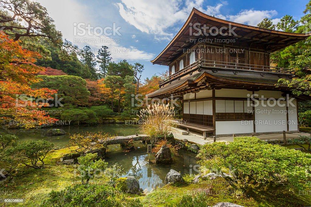 Kyoto Ginkakuji temple stock photo
