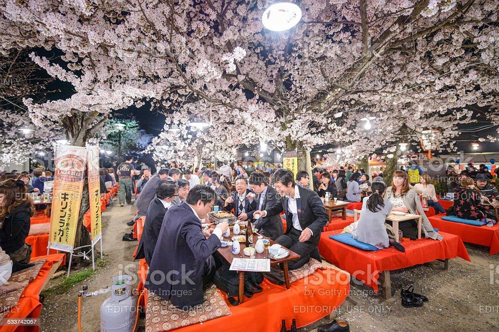 Kyoto, Japan Hanami Festival stock photo