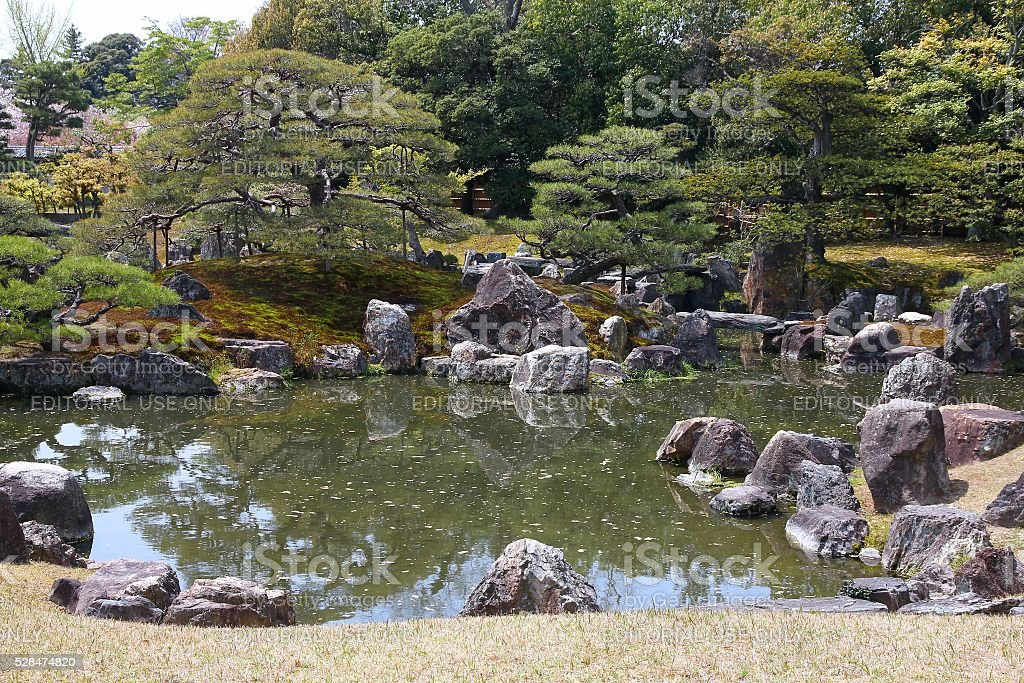 Kyoto Japanese garden stock photo
