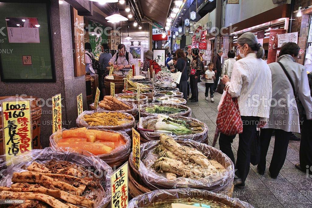 Kyoto market royalty-free stock photo