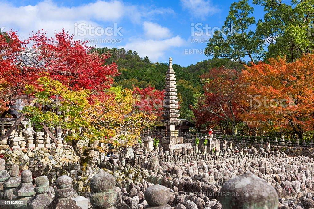Kyoto Temple in Autumn stock photo