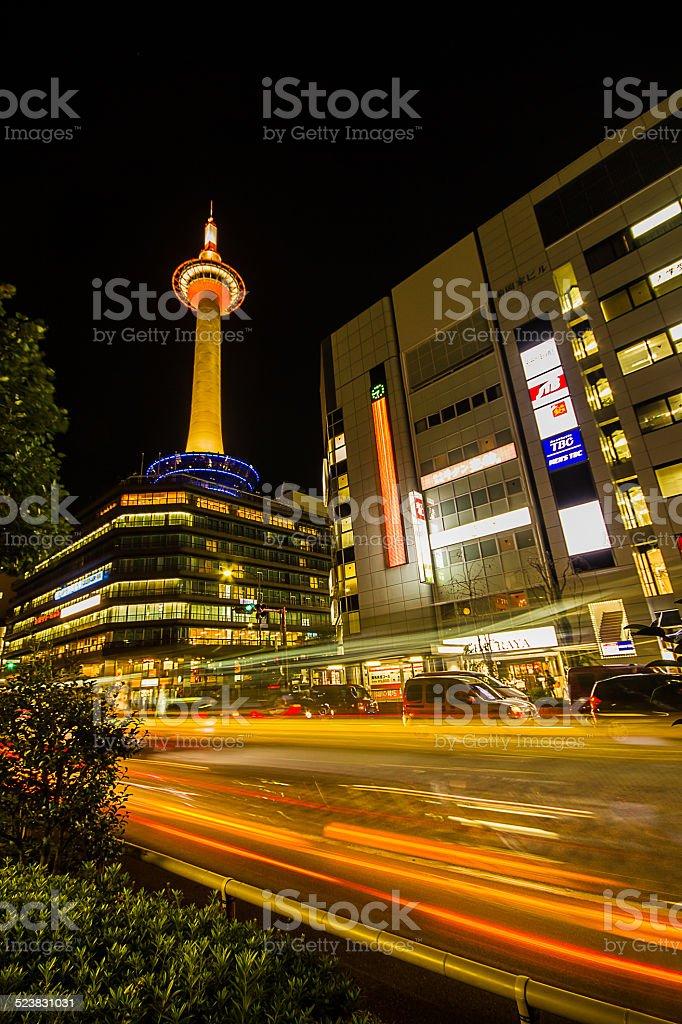 Kyoto Tower. stock photo