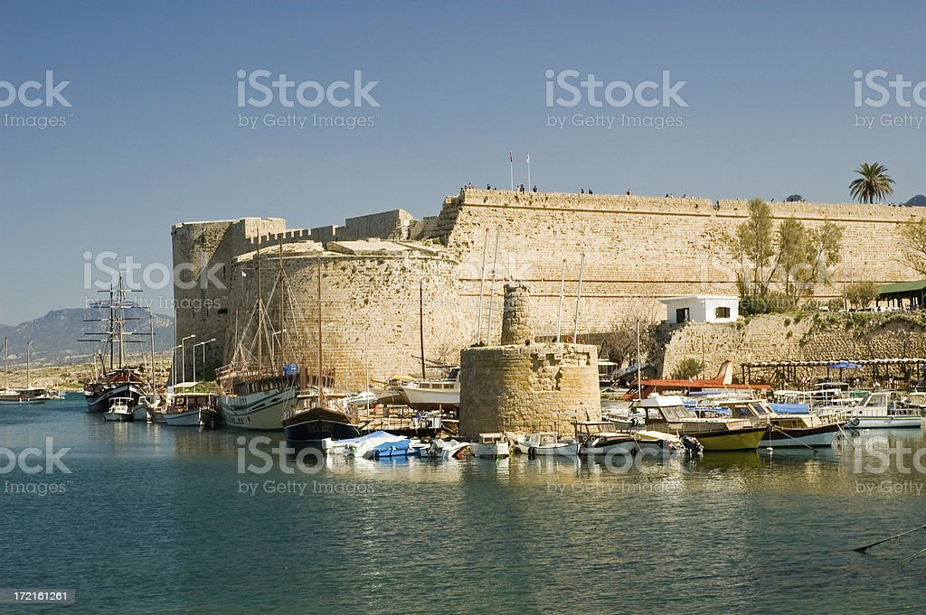 Kyrenia Harbour stock photo