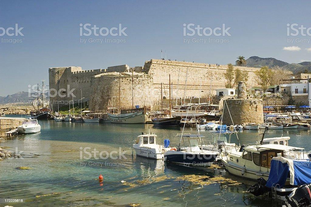 Kyrenia Harbour royalty-free stock photo