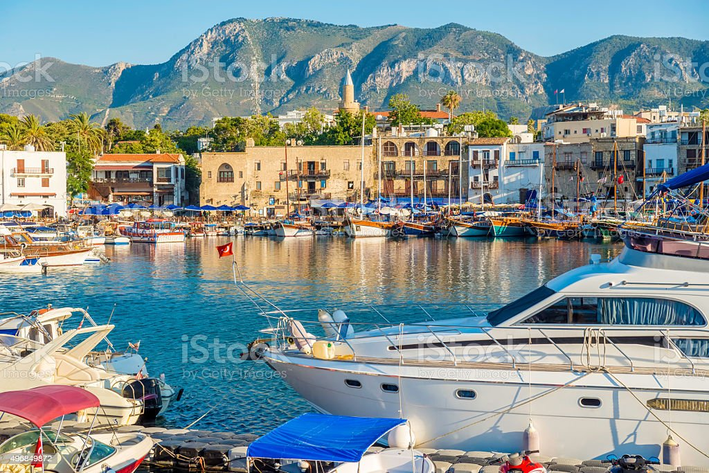 Kyrenia (Girne) harbour. stock photo
