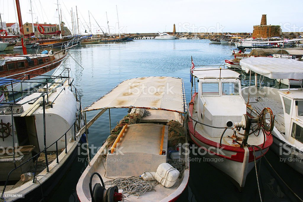 Kyrenia old port stock photo