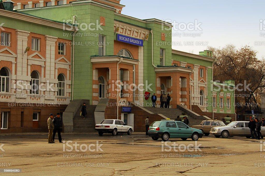 Kyrgyzstan, Bishkek, train station stock photo