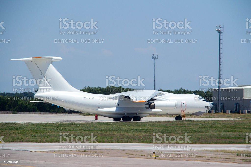 Kyrgyzstan: Ilyushin Il-76 in Bishkek stock photo