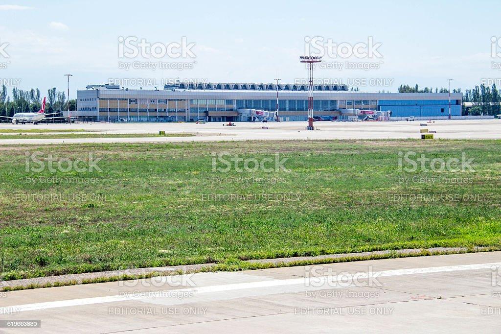 Kyrgyzstan: Manas International Airport stock photo