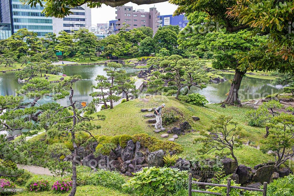 Kyu Shiba Rikyu Garden stock photo