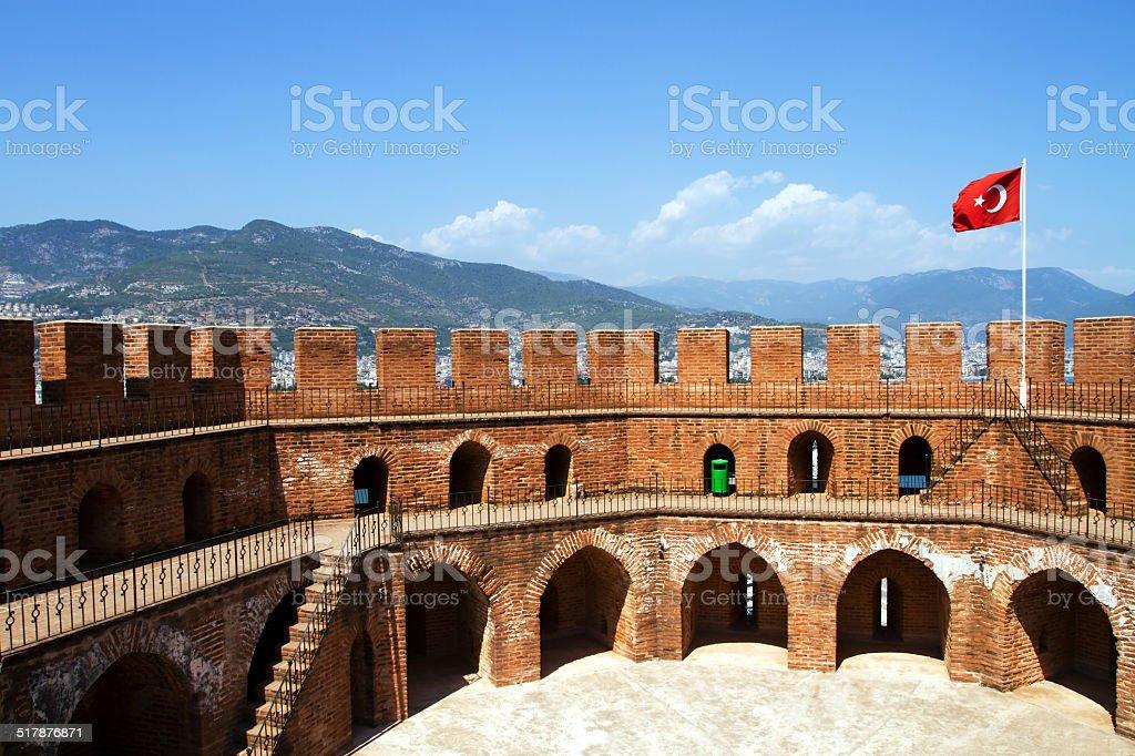 Kızıl Kule in Alanya stock photo