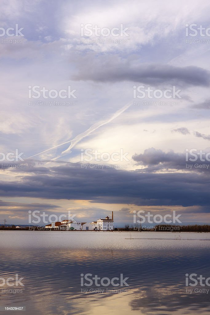 La Albufera lake (Valencia,Spain) stock photo