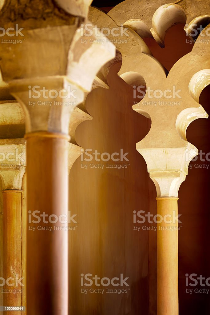 La Alcazaba, Malaga city, Spain royalty-free stock photo