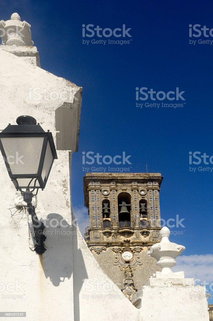 La Asuncion, Church, Arcos de la Frontera, Cadiz stock photo