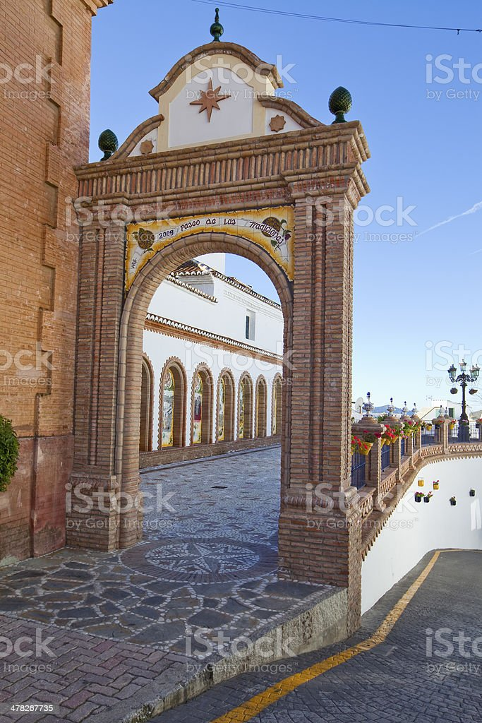 La Asuncion Church, Competa, Spain royalty-free stock photo
