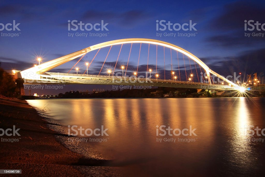 La Barqueta Bridge royalty-free stock photo