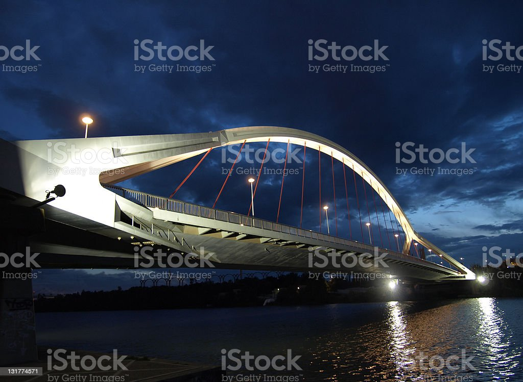 La Barqueta Bridge, Seville royalty-free stock photo