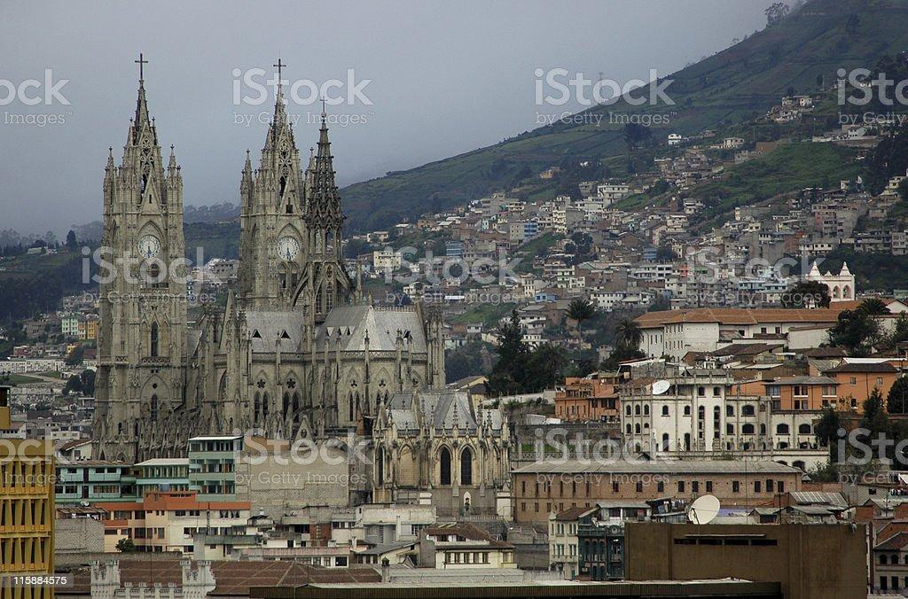 La Basilica del Voto Nacional, Quito, Ecuador stock photo