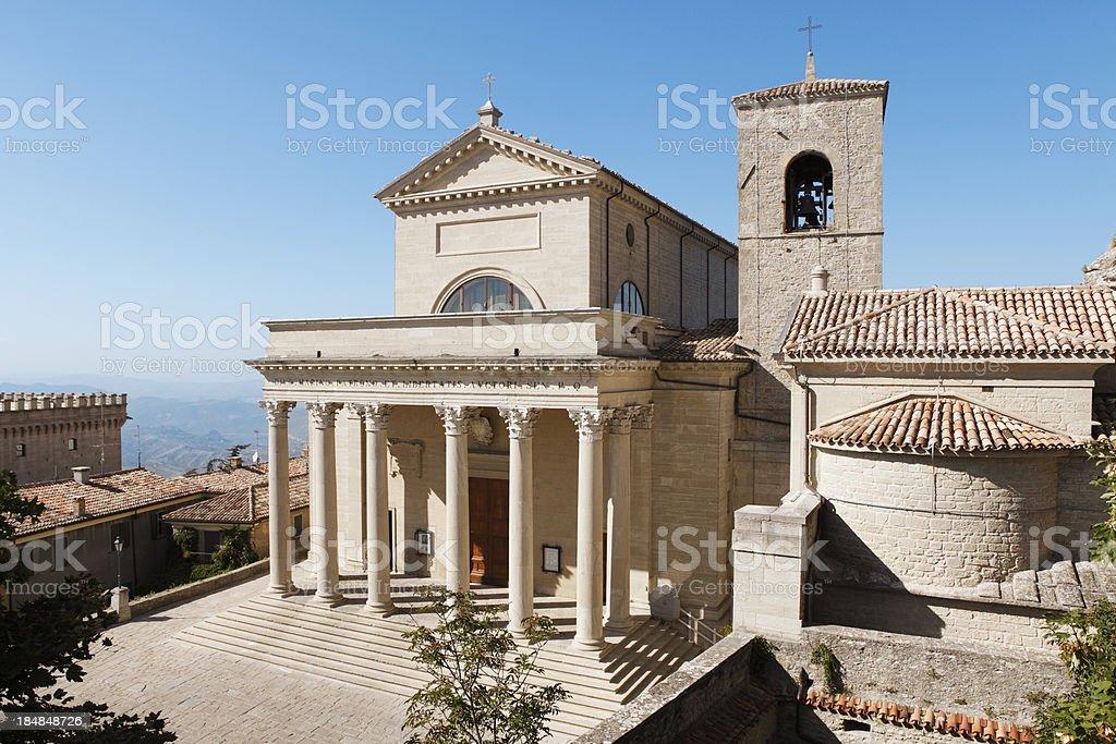 La Basilica della Repubblica di San Marino stock photo