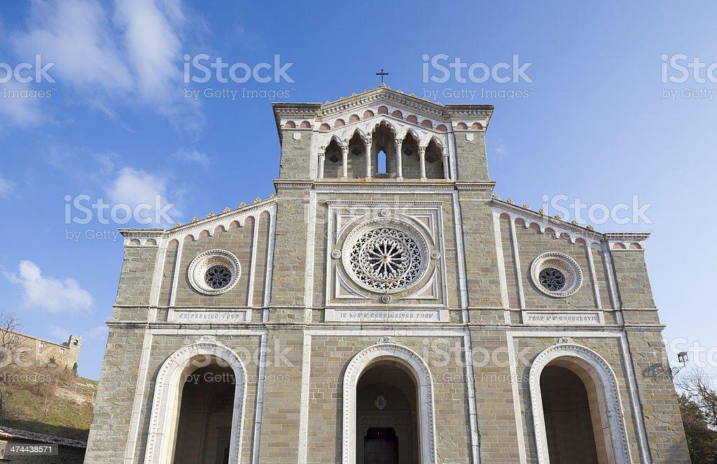 La Basilica di Santa Margherita  in Cortona, Tuscany Italy stock photo