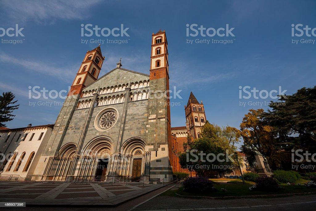 La Basilica di Sant'Andrea, Vercelli, Piemonte, Italia stock photo