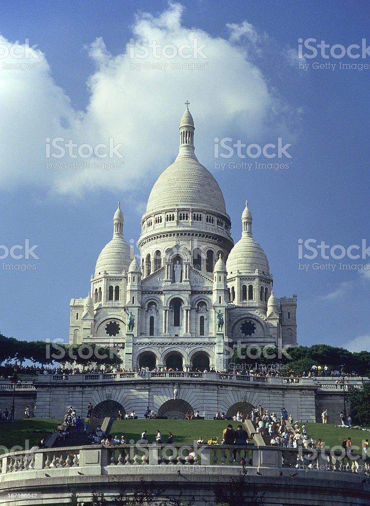 La Basilique du Sacré Coeur de Montmartre stock photo