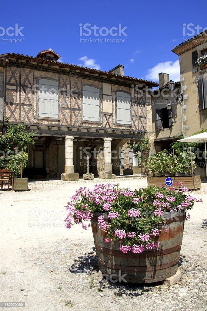 La Bastide d'Armagnac, Landes royalty-free stock photo