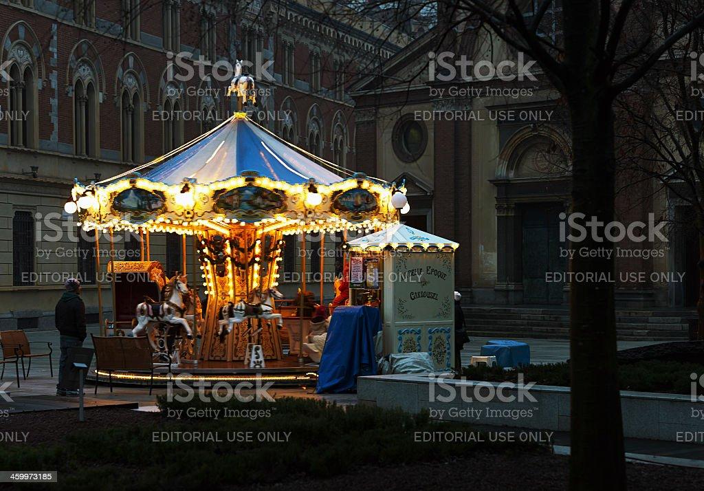 La Belle Epoque Carrousel. Color Image stock photo