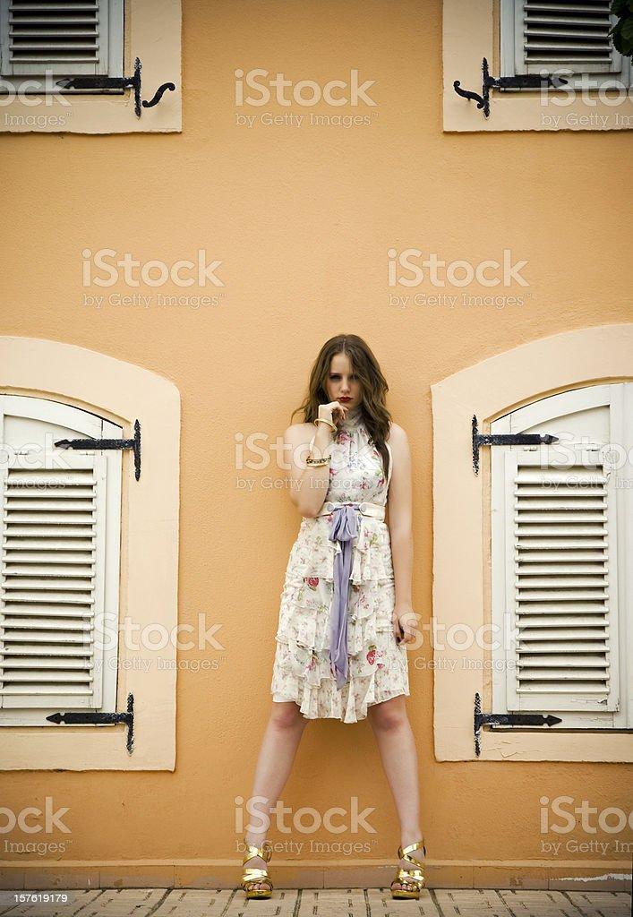 La belle mademoiselle stock photo
