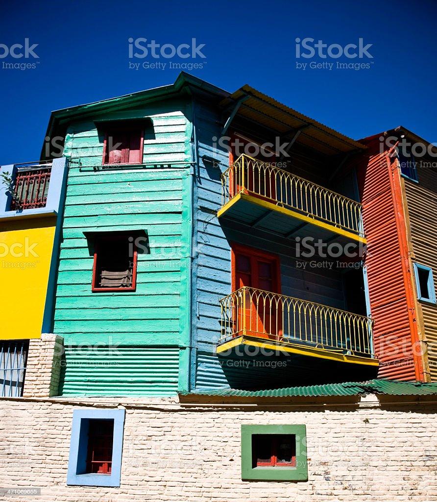 La Boca Buenos Aires Architecture royalty-free stock photo