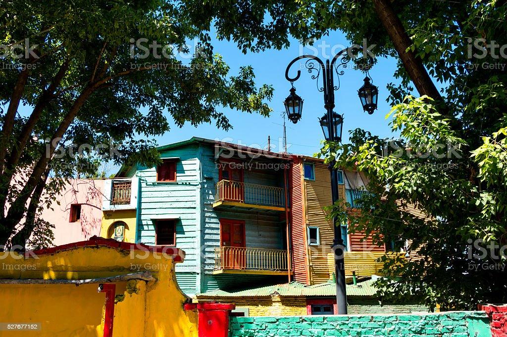 La Boca, colorful neighborhood, Buenos Aires Argentine stock photo