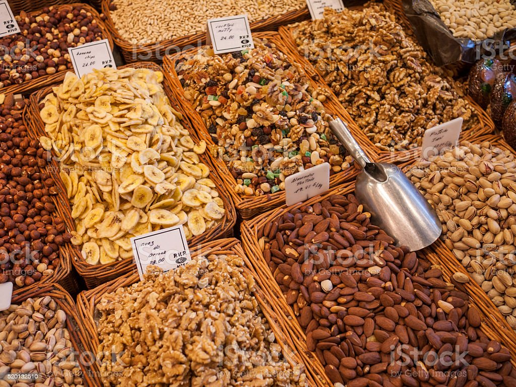 La Boqueria in Barcelona, Spain stock photo