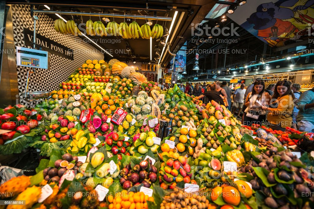 La boqueria Market, Barcelona, Spain stock photo